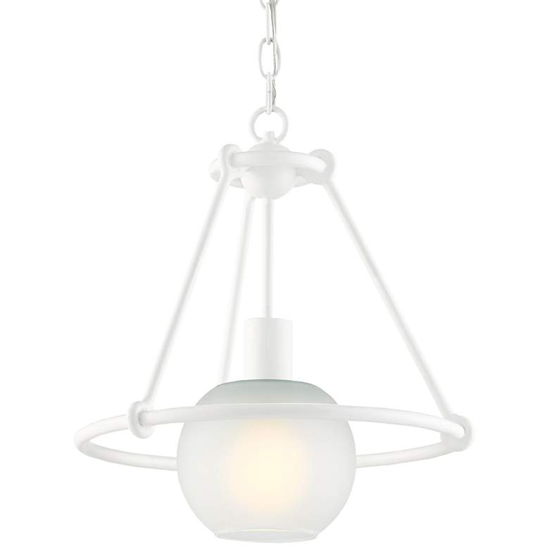 "Halliday 14 1/2"" Wide Gesso White Pendant Light more views"
