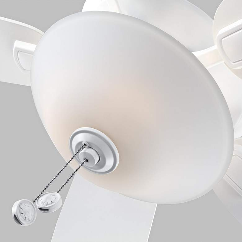 "52"" Colony Max Plus Matte White LED Damp Rated Ceiling Fan more views"