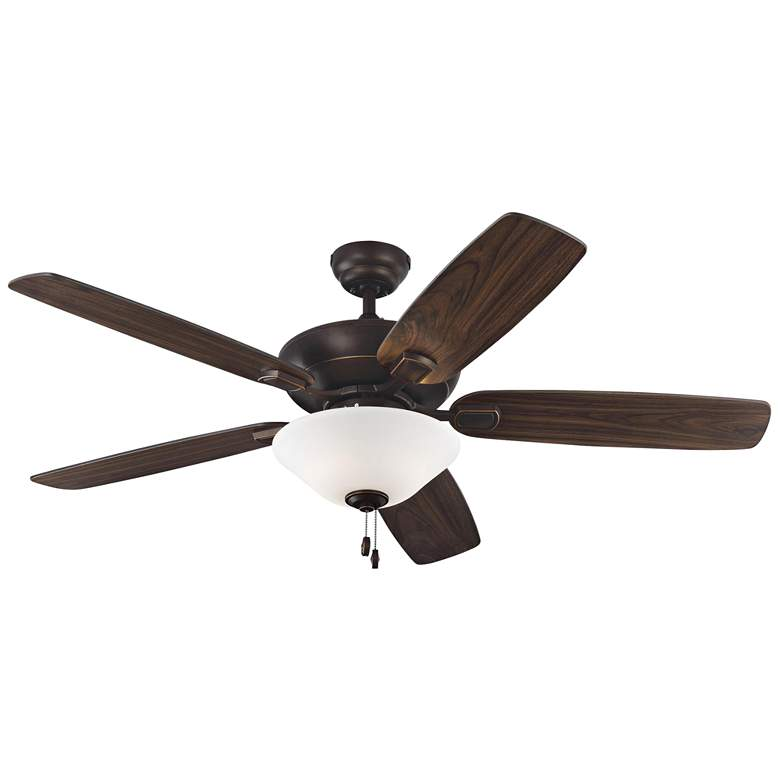 "52"" Colony Max Plus Roman Bronze LED Damp Rated Ceiling Fan more views"