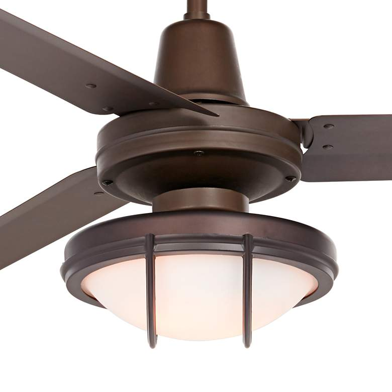 "60"" Casa Turbina DC Bronze and Frosted Glass LED Ceiling Fan more views"