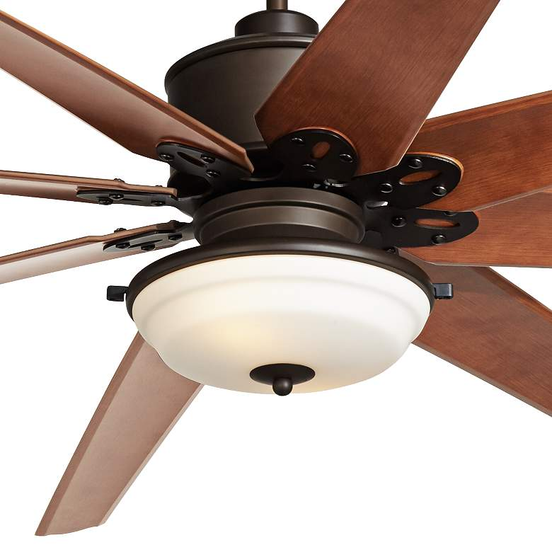 "72"" Predator Bronze Frosted Glass Outdoor LED Ceiling Fan more views"