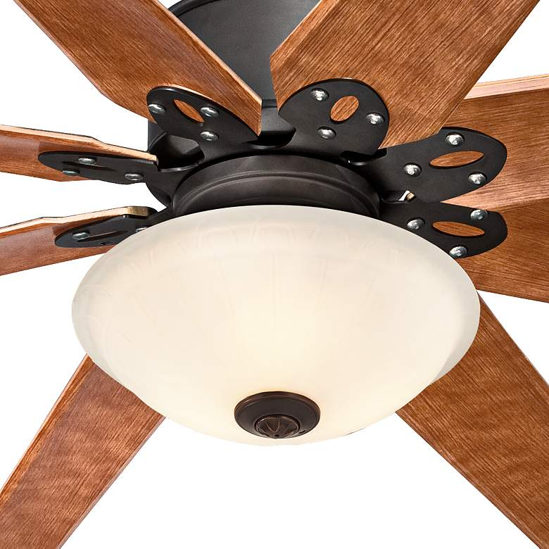 "72"" Predator Bronze and Fluted Glass  LED Ceiling Fan more views"