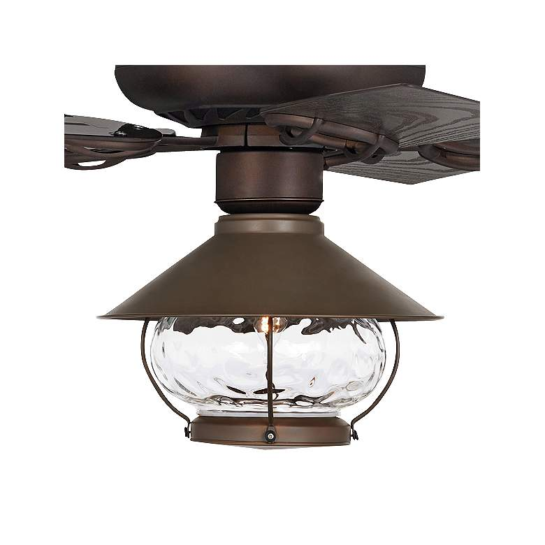 "52"" Casa Vieja Orb Bronze  LED Outdoor Ceiling Fan more views"