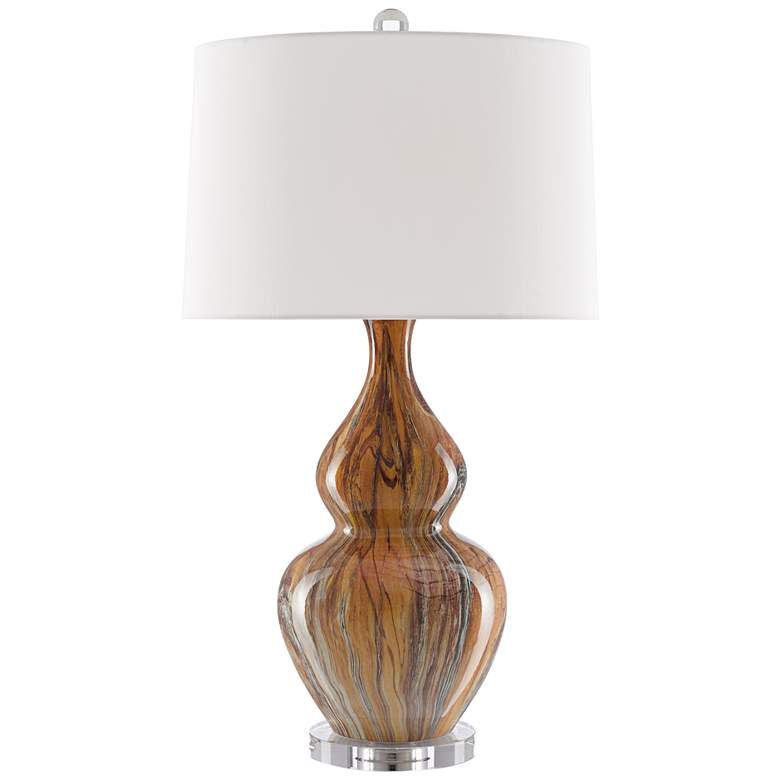 Currey and Company Kolor Earth and Brown Ceramic Table Lamp more views