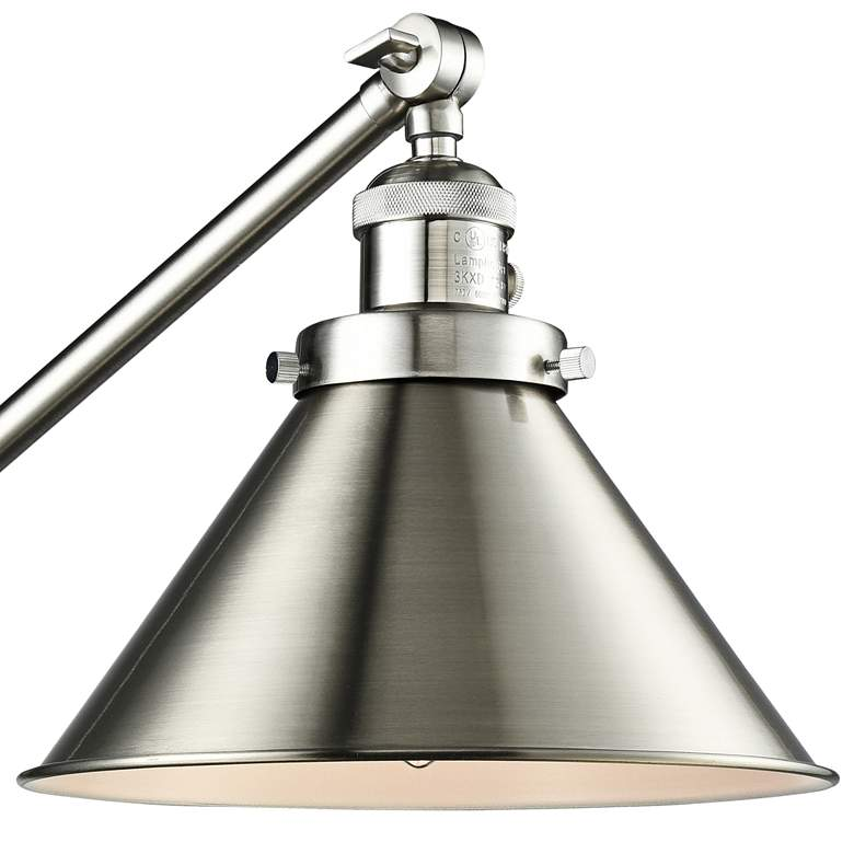 Briarcliff Brushed Satin Nickel Swing Arm Wall Lamp more views