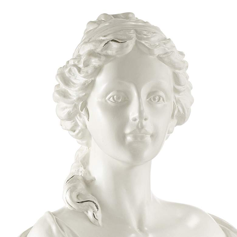 "Classic Roman 16"" High White Female Bust Statue more views"