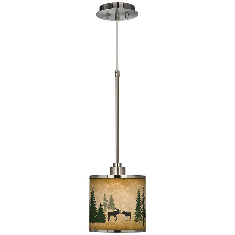 Moose Lodge Giclee Glow Mini Pendant Light more views