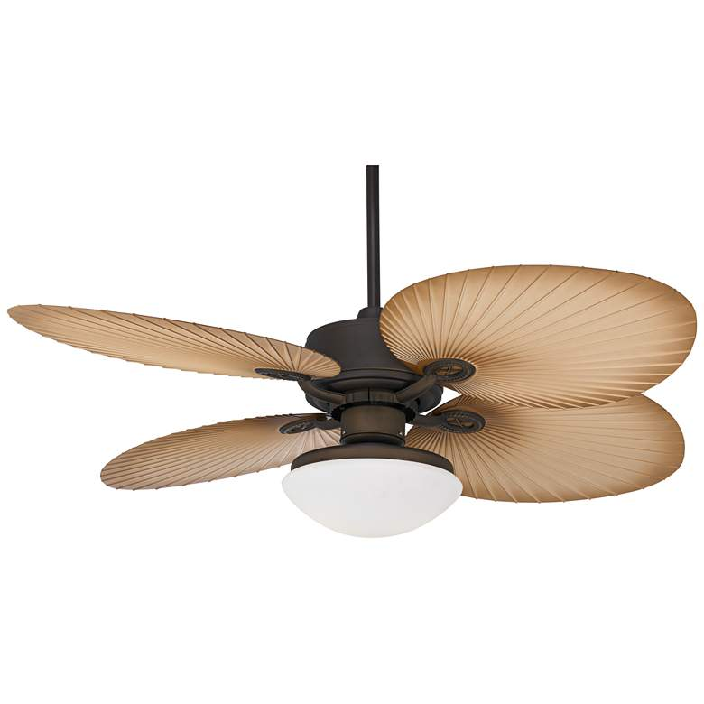 "52"" Aerostat Palm White Glass Dome Wet LED Ceiling Fan more views"