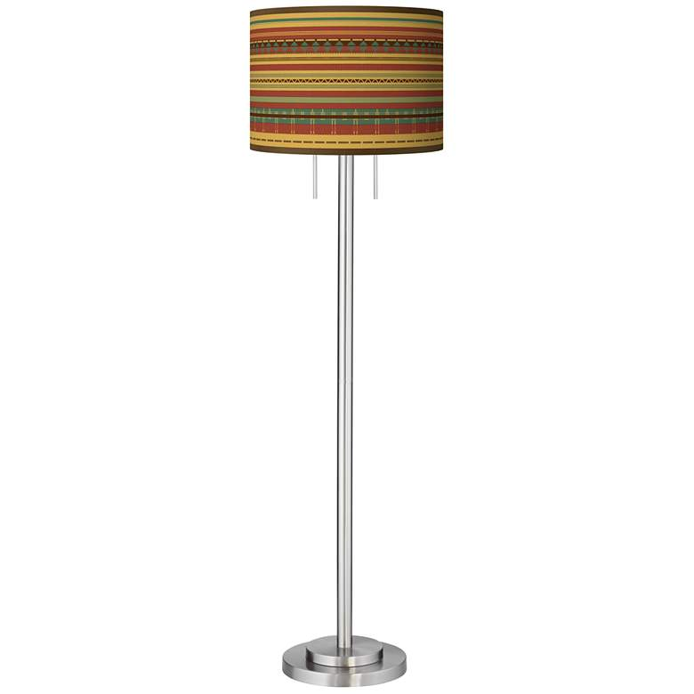 Southwest Desert Giclee Brushed Nickel Garth Floor Lamp more views