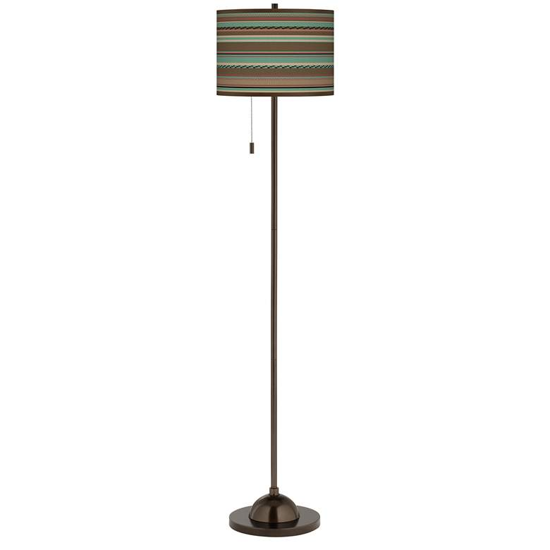 Southwest Shore Giclee Glow Bronze Club Floor Lamp more views