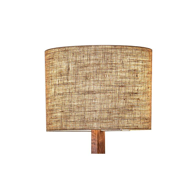 Cerno Nauta Walnut Aluminum LED Floor Lamp with Burlap Shade more views