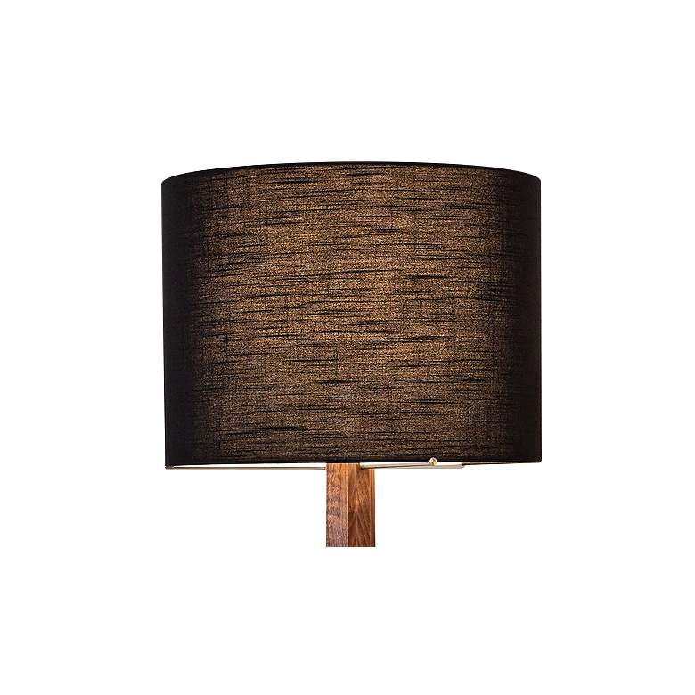 Cerno Nauta Walnut and Brass LED Floor Lamp with Black Shade more views