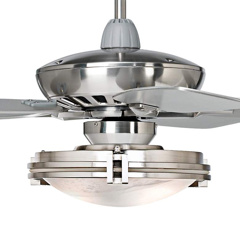 "52"" Journey Brushed Nickel Marbleized Glass LED Ceiling Fan more views"