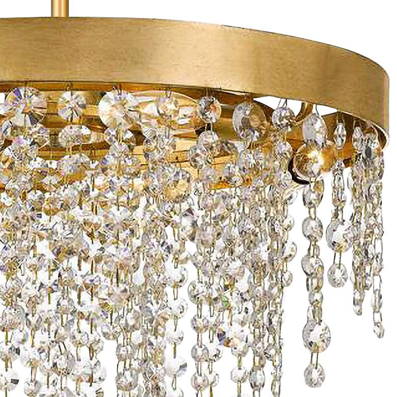 "Crystorama Winham 20""W Antique Gold and Crystal Chandelier more views"