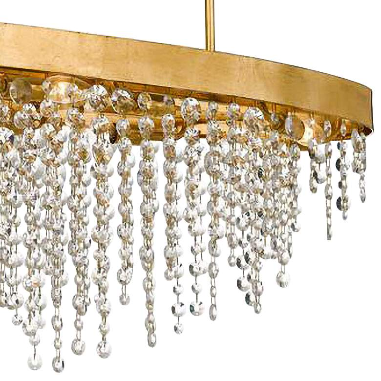 "Crystorama Winham 36""W Gold and Crystal Island Chandelier more views"