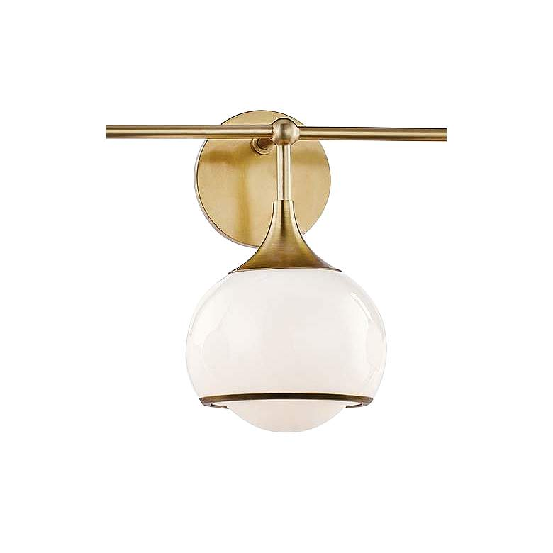 "Mitzi Reese 26 3/4"" Wide 3-Light Aged Brass Bath Light more views"