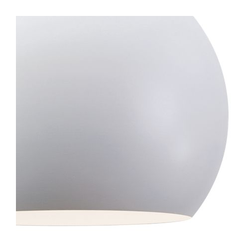"Roxy 11 3/4"" Wide White Metal Dome Mini Pendant Light"