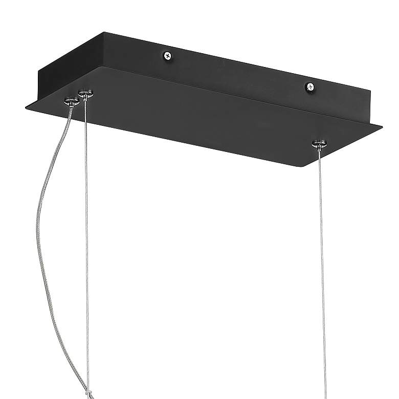 "Roxbury 35 1/2"" Wide Black LED Kitchen Island Light Pendant more views"