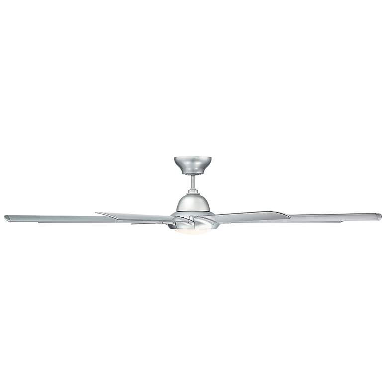 "96"" Modern Forms Hydra Silver LED Wet Ceiling Fan more views"