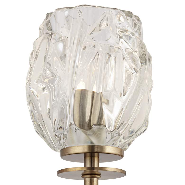"Possini Euro Tulip Glass 22 1/2""W Brass 3-Light Bath Light more views"