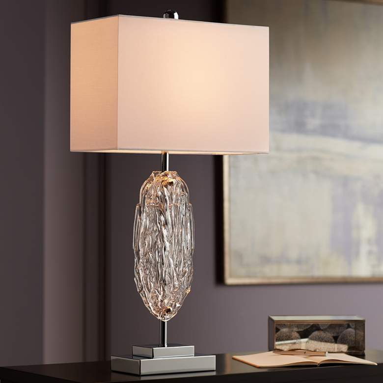 Possini Euro Gabriel Modern Glass Table Lamp more views