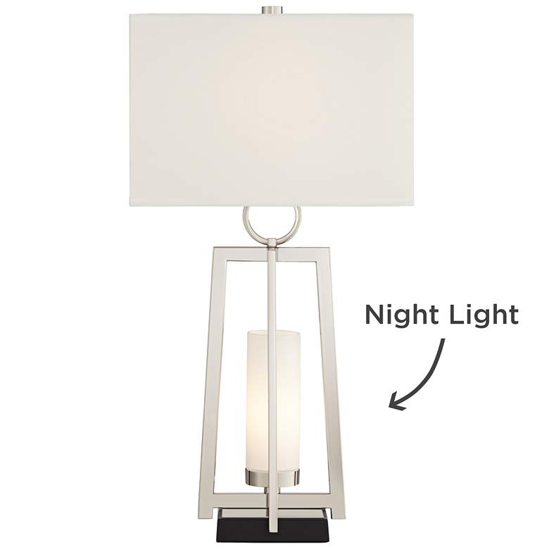 Possini Euro Alfaro Polished Nickel Night Light Table Lamp more views