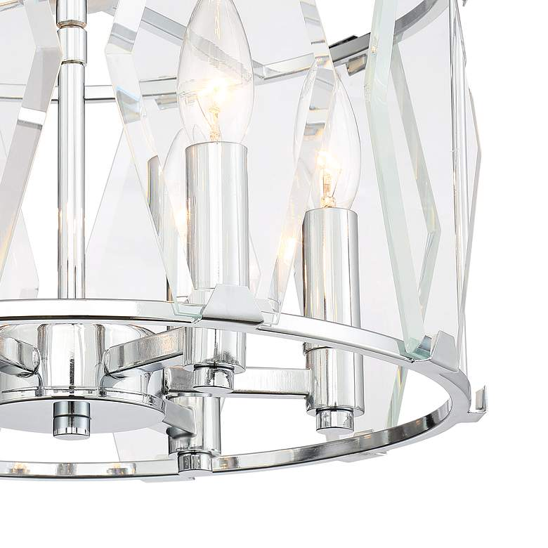 "Krakow 14"" Wide Chrome and Glass 6-Light Foyer Pendant Light more views"