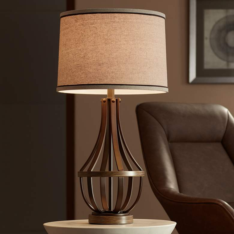 Louanne Oil-Rubbed Bronze Industrial Farmhouse Table Lamp more views