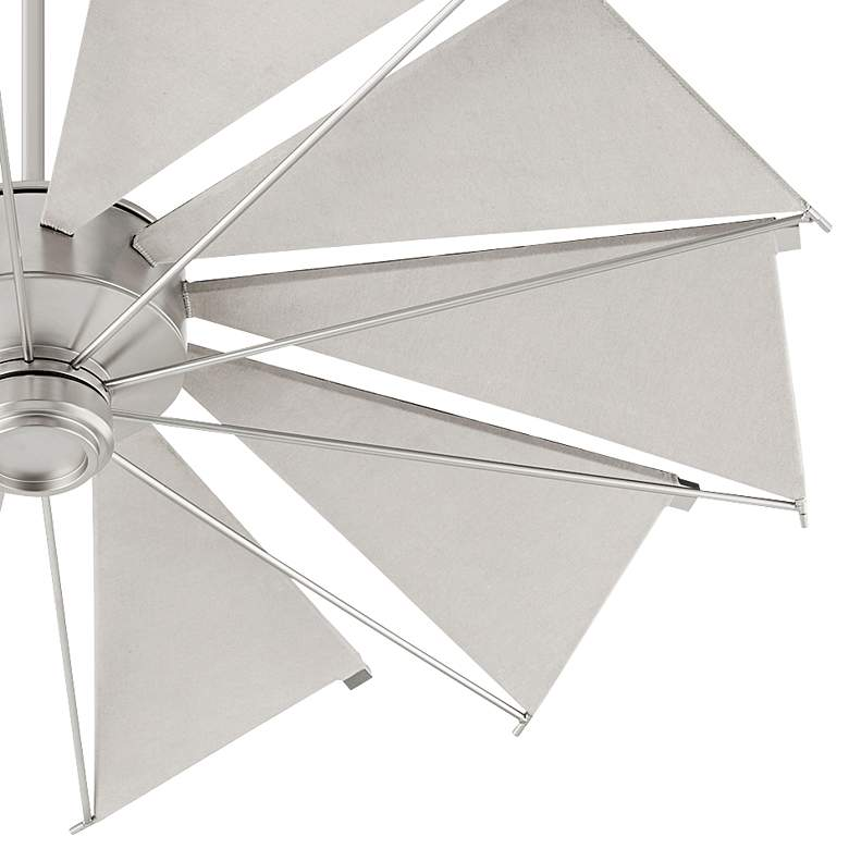 "52"" Quorum Mykonos Satin Nickel Ceiling Fan more views"