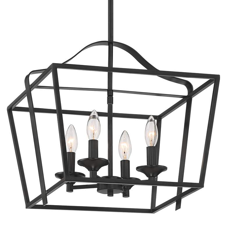 "Briggs 16"" Wide Bronze 4-Light Foyer Pendant Light more views"