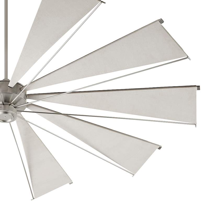 "92"" Quorum Mykonos Satin Nickel Ceiling Fan more views"