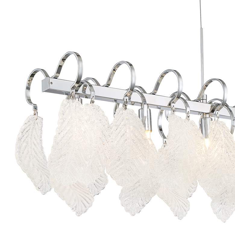 "Amberine 32 3/4""W Chrome LED Kitchen Island Light Pendant more views"