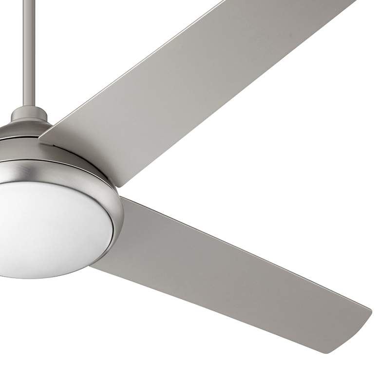 "52"" Quorum Quest Satin Nickel LED Ceiling Fan more views"
