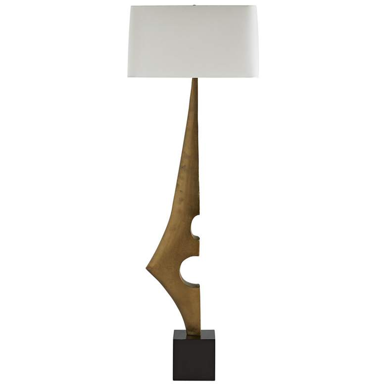 Arteriors Home Umberto Antique Brass Sculptural Floor Lamp more views