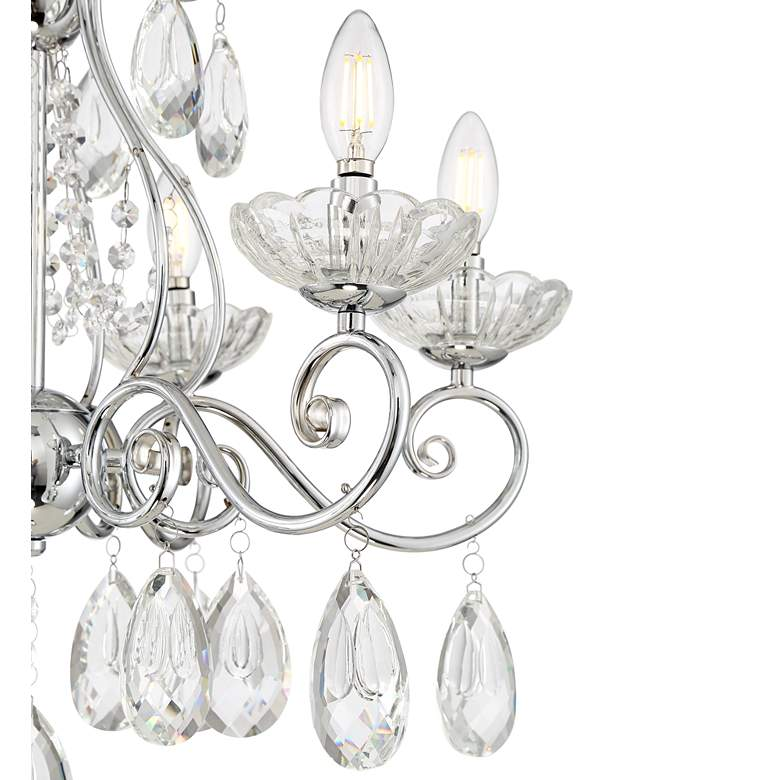"Liliana 23 1/2"" Wide Chrome and Crystal 6-Light Chandelier more views"
