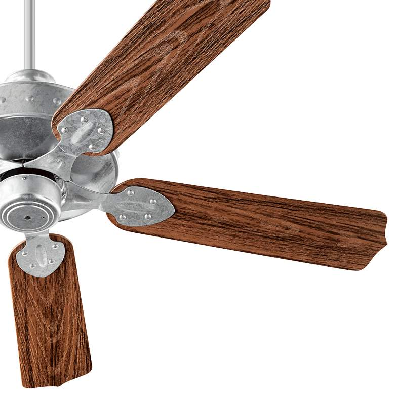 "52"" Quorum Hudson Galvanized - Walnut Patio Ceiling Fan more views"