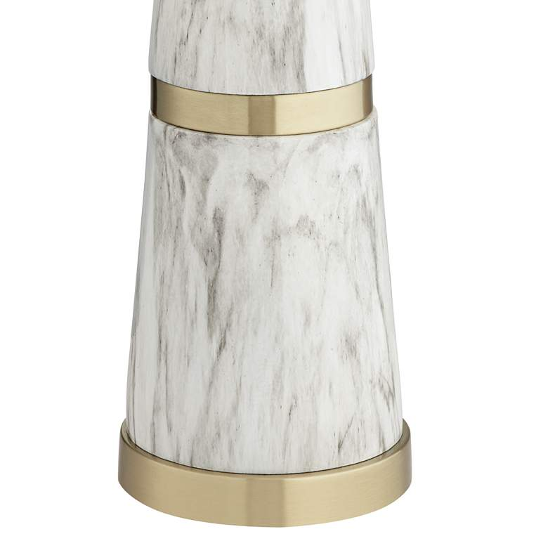 Possini Euro Irina White Faux Marble Table Lamp more views