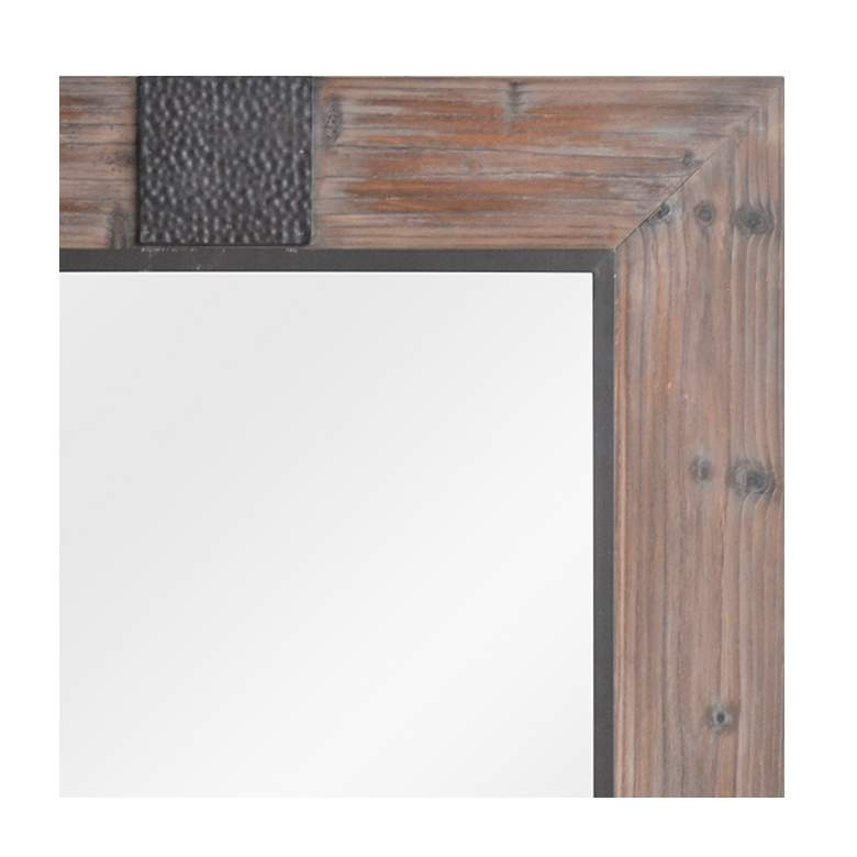 "Rustic Reflection I Wood 35 1/2"" x 48"" Wall Mirror more views"