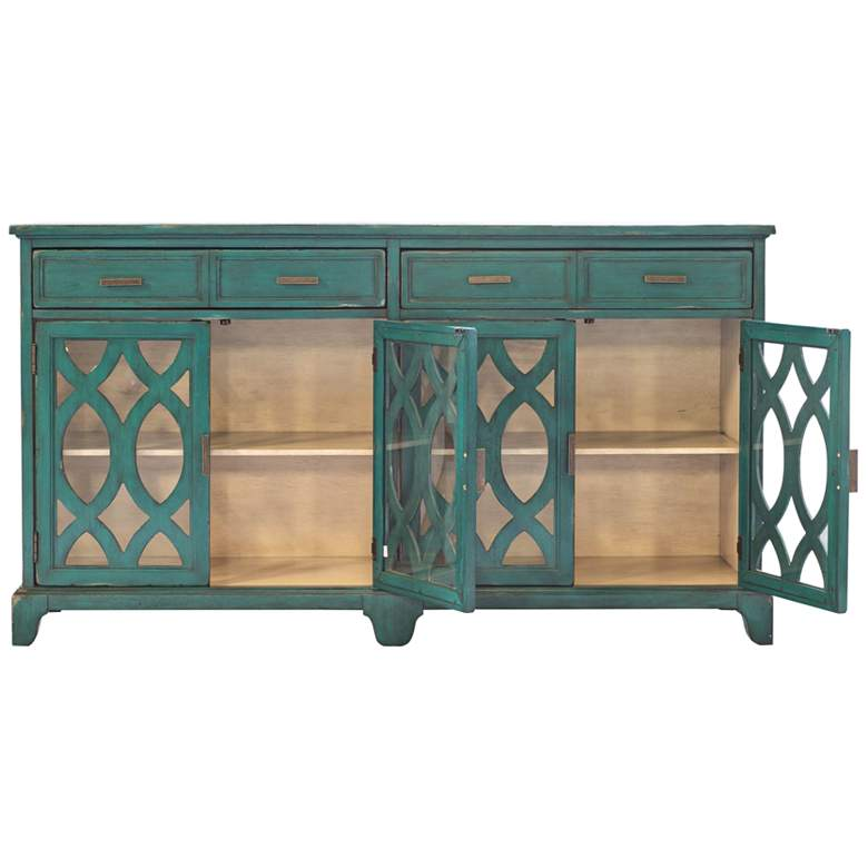 Uttermost Oksana Antique Green 4-Door Wood Credenza more views