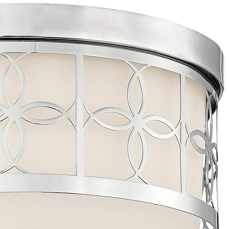 "Anniversary 13 1/2"" Wide Polished Nickel Drum Ceiling Light more views"