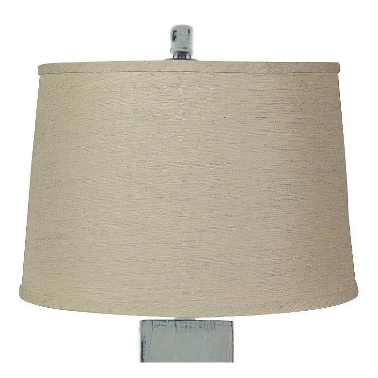 Hudson White Table Lamp with Jefferson Linen Shade more views