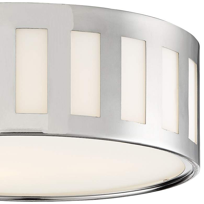 "Crystorama Kendal 14""W Polished Nickel Drum Ceiling Light more views"