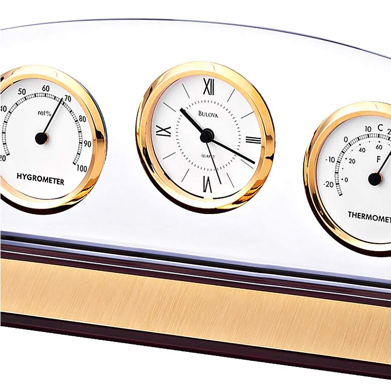 Bulova Weston Executive Desk Clock more views