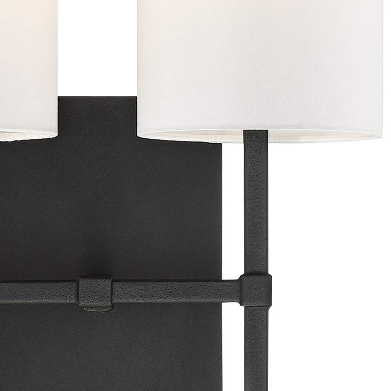 "Veronica 16 1/2"" High Black Forged 2-Light Wall Sconce more views"