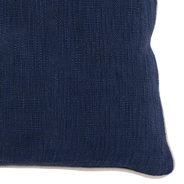 "Albany Blue Navy 22"" Square Decorative Pillow more views"