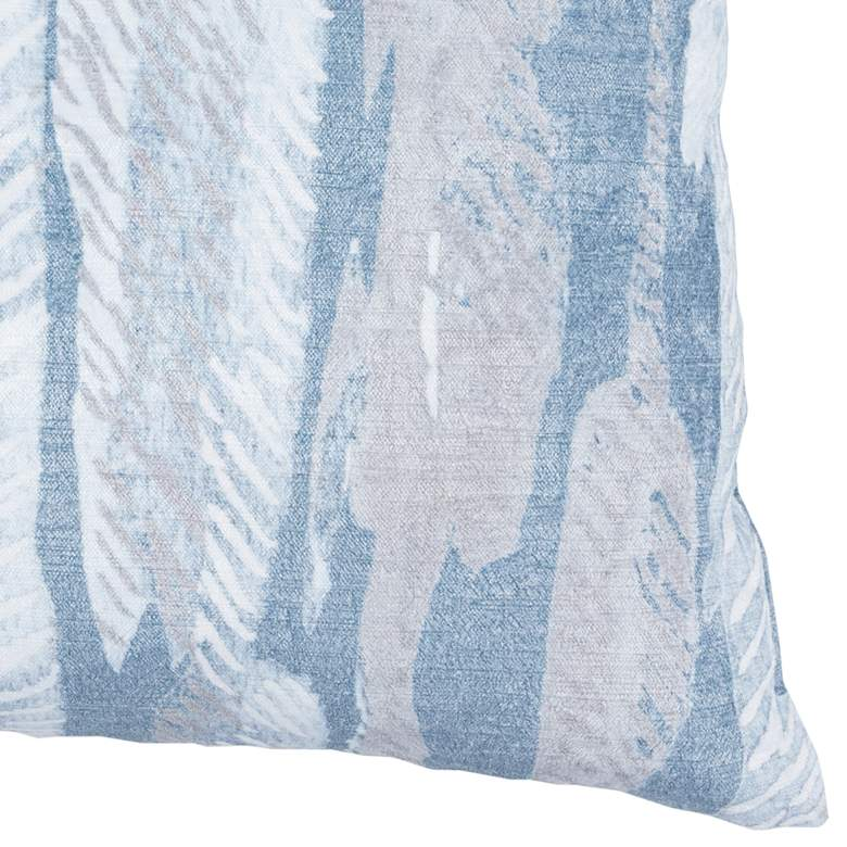 "Kristina Rain Blue 22"" Square Decorative Pillow more views"