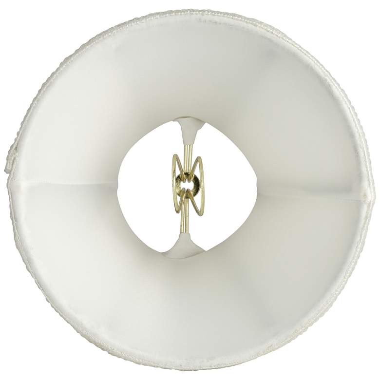 Celta Off-White Sequin Trim Lamp Shade 3x6x5 (Clip-On) more views
