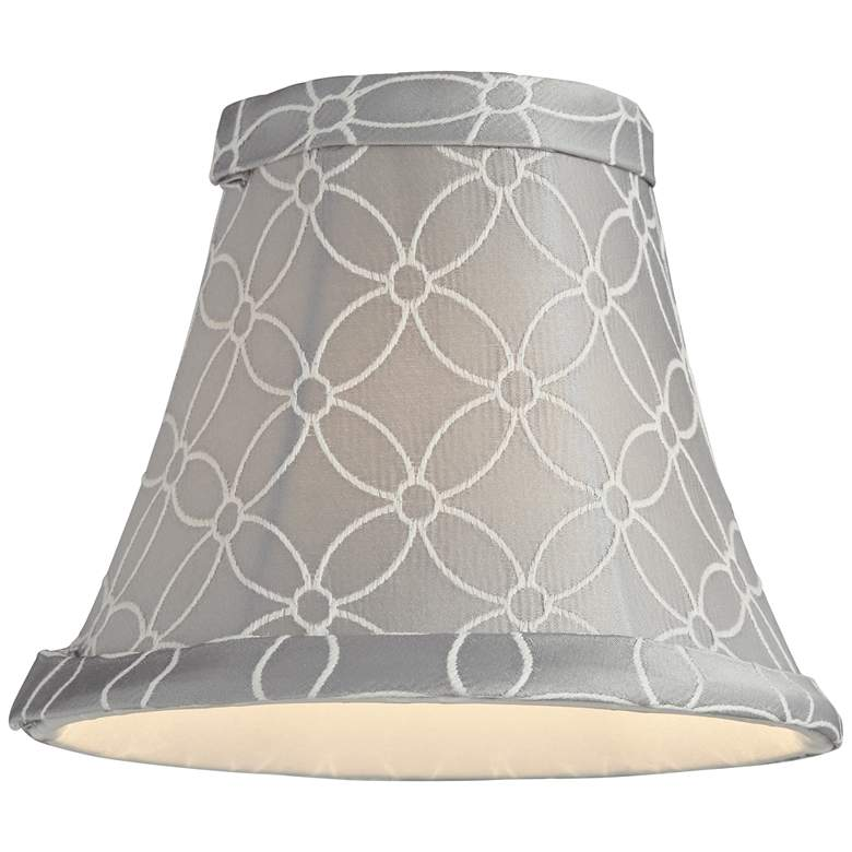 An Qing Gray Bell Lamp Shade 3x6x5 (Clip-On) more views