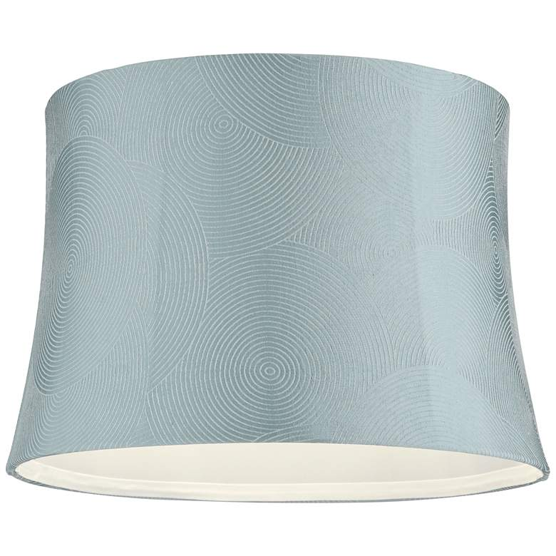 Croydon Blue Drum Lamp Shade 13x15x10.5 (Spider) more views