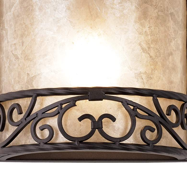 "Natural Mica 12 1/2"" High Wall Sconce Fixtures Set of 2 more views"